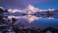 Ama Dablam Alpenglow Reflection