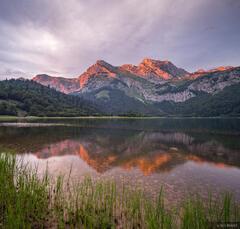 Sunset at Trnovacko Jezero