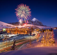 Colorado,Crested Butte,fireworks, New Year, torchlight parade