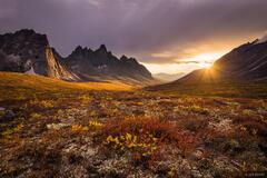 Tombstone Mountain Sunset