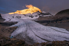 British Columbia, Canada, Mount Robson Provincial Park, Robson Glacier, BC, sunrise