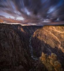 Black Canyon of the Gunnison, Cedar Point, moonlight, Gunnison River