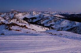 Gore Range, twilight, Vail, Colorado