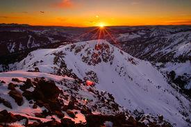 Vail, sunset, Gore Range, Colorado