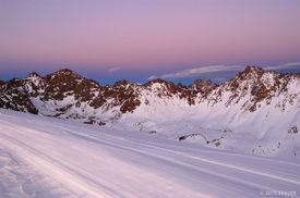 Valhalla, Snow Peak, dusk, Gore Range, Colorado