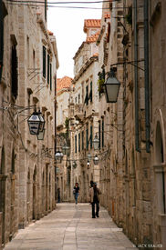 Dubrovnik, narrow street, walled city, Croatia
