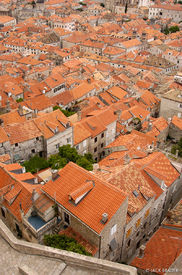 Dubrovnik, orange rooftops, Croatia