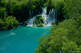 paradise, waterfall, Plitvicka Jezera National Park, Croatia