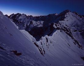 Outpost Peak, moonlight, Gore Range, Colorado