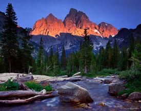 Grand Teton, Mount Owen, sunset, alpenglow, Wyoming