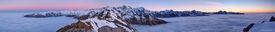 Southern Alps, panorama, Mt. Cook, Tasman Sea, New Zealand