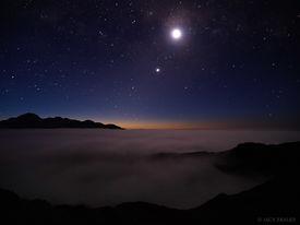 stars, clouds, West Coast, New Zealand