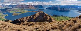 Lake Wanaka, Roys Peak, Southern Alps, panorama, New Zealand