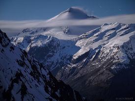 Mt. Aspiring, moonlight, New Zealand