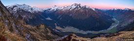Matukituki, panorama, Mt. Aspiring, New Zealand