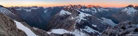 Fiordland, panorama, Darran Mountains, Milford Sound, New Zealand