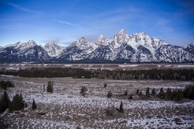 Tetons, Wyoming, moonlight, Jackson Hole, Grand Teton National Park