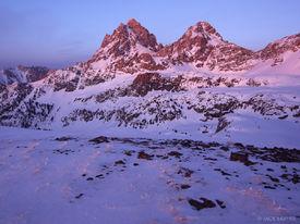 alpenglow, Tetons, Wyoming, winter, sunset, hurricane pass