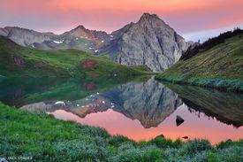 Blue Lakes, San Juan Mountains, Colorado, sunrise, reflection