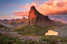 tundra, Uncompahgre Wilderness, San Juan Mountains, Colorado, sunset