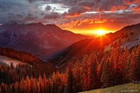 sunset, San Juan Mountains, Colorado