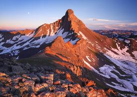 Wetterhorn Peak, Uncompahgre Wilderness, fourteener, sunset, San Juan Mountains, Colorado