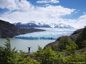 Chile, South America, Torres del Paine, Patagonia, Glaciar Grey