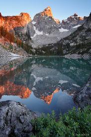 Grand Teton, Tetons, Wyoming, reflection, sunrise