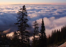 Jackson Hole, Wyoming, inversion, clouds, Tetons