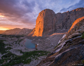 Mount Hooker,Wind River Range,Wyoming, sunrise