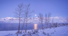 Timpanogos Winter Moonset
