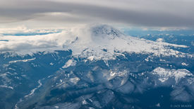 Mt. Rainier,Washington,aerial