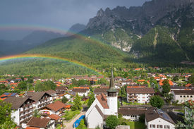 Rainbow Over Mittenwald