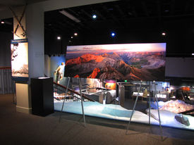 Exhibit at Bradford Washburn American Mountaineering Museum