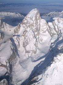Grand Teton, aerial, Teton Glacier, Tetons, Wyoming, winter