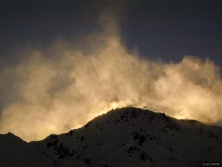powder clouds, Las Le, Las Leñas, Argentina, Las Leñas