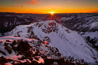 Vail, sunset, Gore Range, Colorado