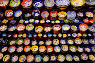 bowls, Grand Bazaar, Istanbul, Turkey, colorful