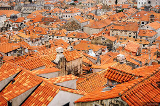 Dubrovnik, walled city, rooftops, Croatia