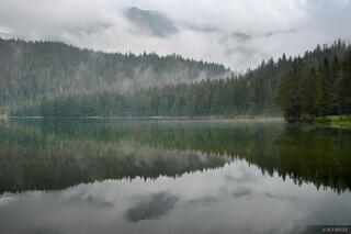 Crno Jezero Foggy Reflection