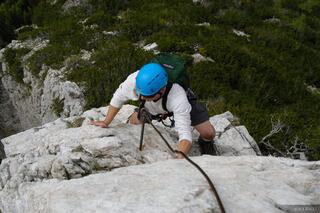 via ferrata, Col Rosa, Cortina, Dolomites, Italy, climbing