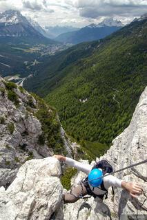 climbing, Col Rosa, via ferrata, Dolomites, Italy