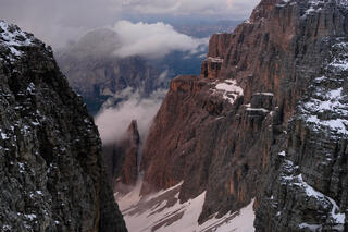 Val di Mesdi, Sella group, Sassongher, Dolomites, Italy, Alps