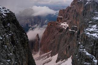 Val di Mesdi, Sella group, Sassongher, Dolomites, Italy