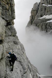 Brenta group, via ferrata, climbing, Madonna di Campiglio, Dolomites, Italy