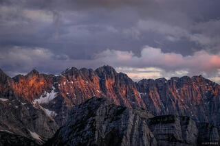 Julian Alps, Slovenia, Pihavec, sunset