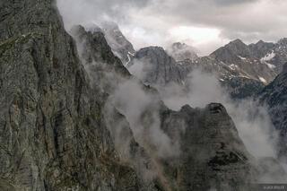 Pihavec, mountain mist, Julian Alps, Slovenia