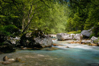 Julian Alps, Slovenia, river, Karjcarica, Alps