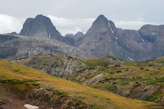 Vestal Peak, Arrow Peak, Grenadier Range, Weminuche Wilderness, Colorado
