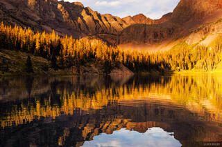 Golden Reflection, Weminuche Wilderness, San Juan Mountains, Colorado